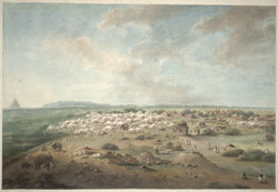 The Hastings' party's encampment outside Hansi